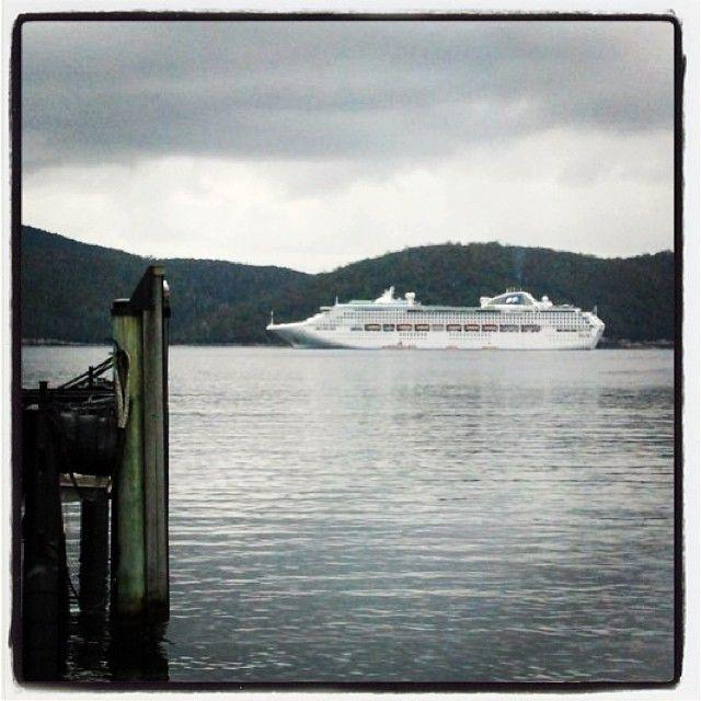 Sea Princess moored off Port Arthur