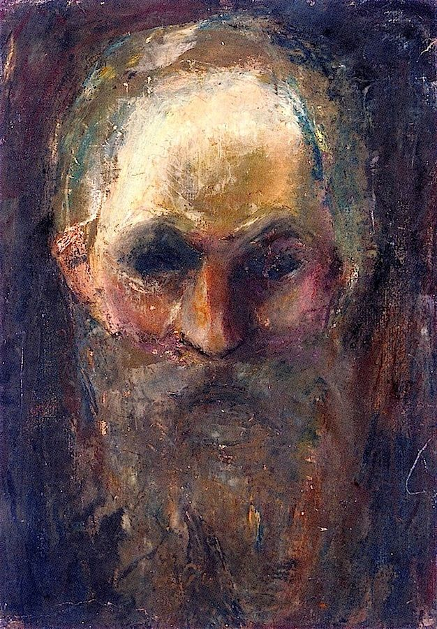 Edvard Munch ~ Study of an Old Man's Head, 1885-86