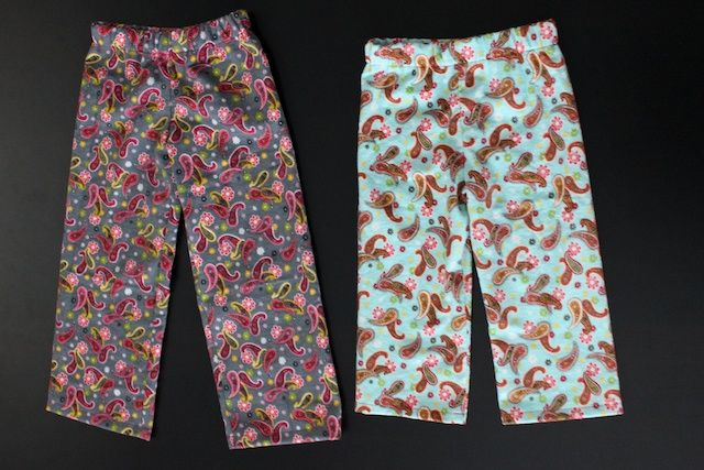 Basic pajama pants tutorial. Adaptable to any size, baby through adult!