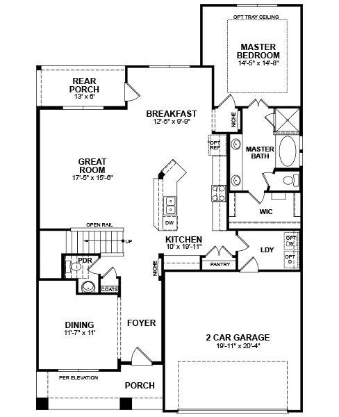 Beazer 2 Story Brookhaven Floorplan Great Layout