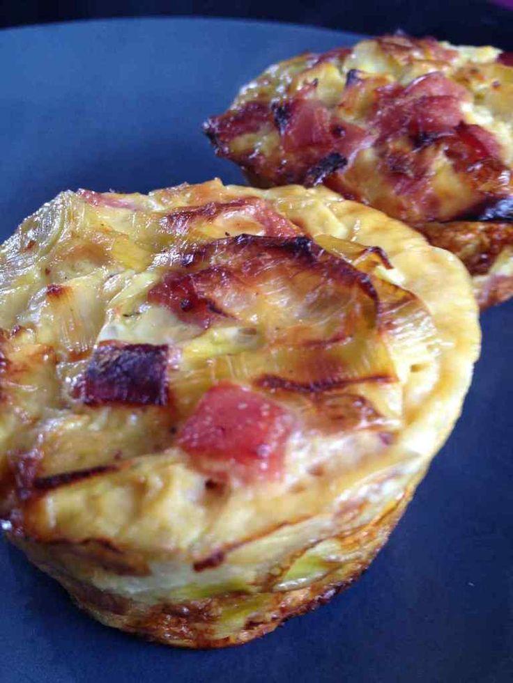 Flan de poireau au bacon