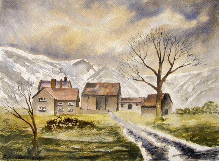 Hill Farm 12 x 9 watercolour