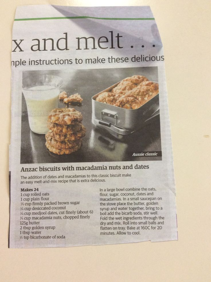 Anzacs with dates and macadamia