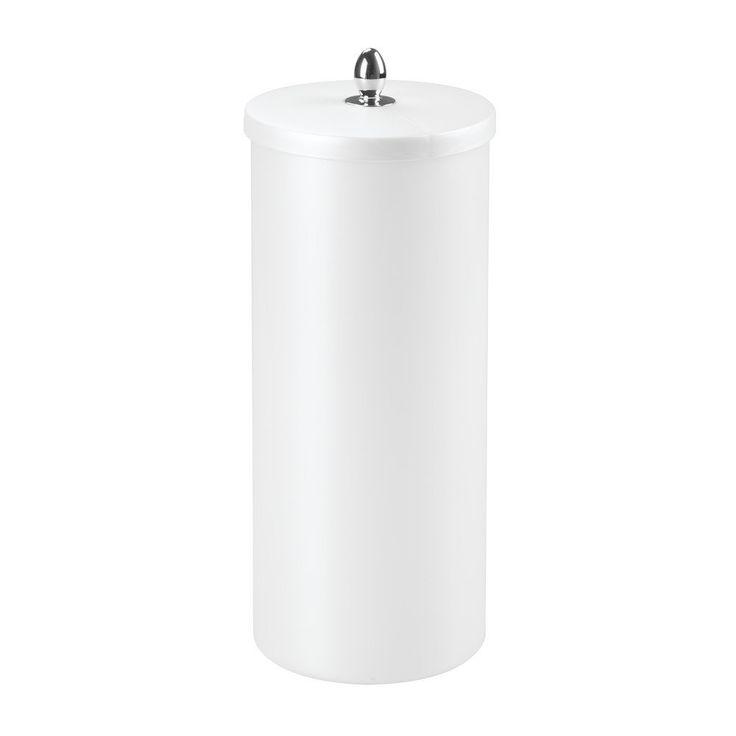 InterDesign Orb Free Standing Toilet Paper Roll Holder for Bathroom Storage - Pearl White