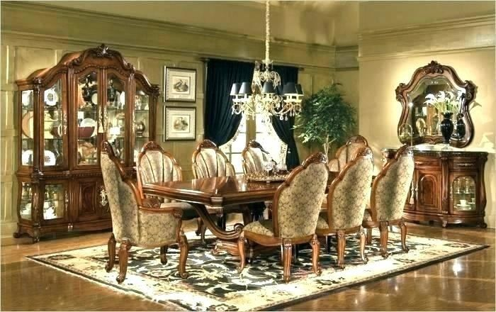 Round Dining Table Sets, Aico Cortina Dining Room Set