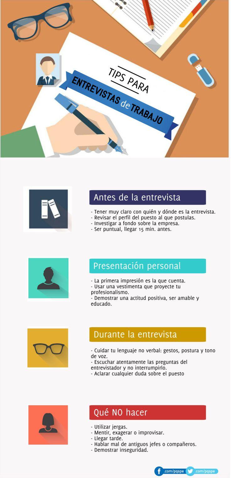 Consejos para tu Entrevista de Trabajo #infografia #infographic #empleo | TICs y Formación