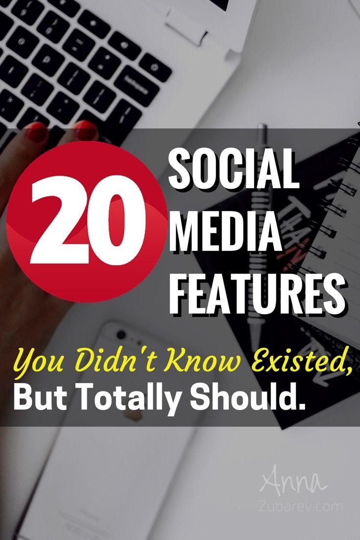 20 Social Media Features 9e2e456b3a959f835f51a178389483ea