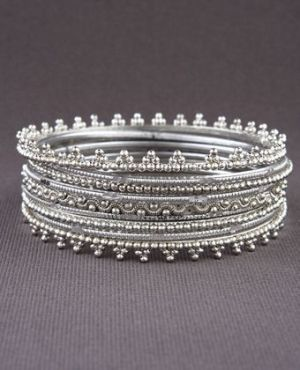 bangles #silver #jewelry #bracelets by mollie