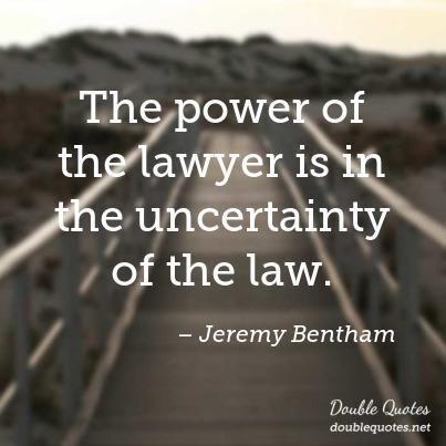 #uncertainty #bentham #lawyer #jeremy #power #the