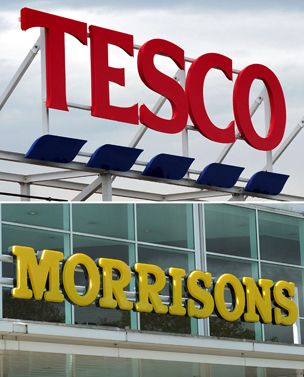 Worst results were from Morrisons, which has the smallest online presence. Its so-called like-for-like sales fell 5.6%.   At the market leader, Tesco underlying sales in the UK fell 2.4% in the six weeks of Christmas and overseas sales were down 3.6%.  But Tesco's online sales in Britain were a big £450m, up 14%.