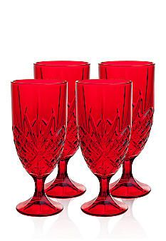 Godinger Dublin Red Set of 4 Iced Tea Glasses - This was my x-mas gift this yr - got 8!  Also, got a cake plate and serving bowl - love them with my x-mas china - hohoho!