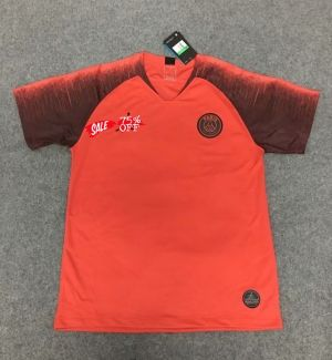 psg away red jersey
