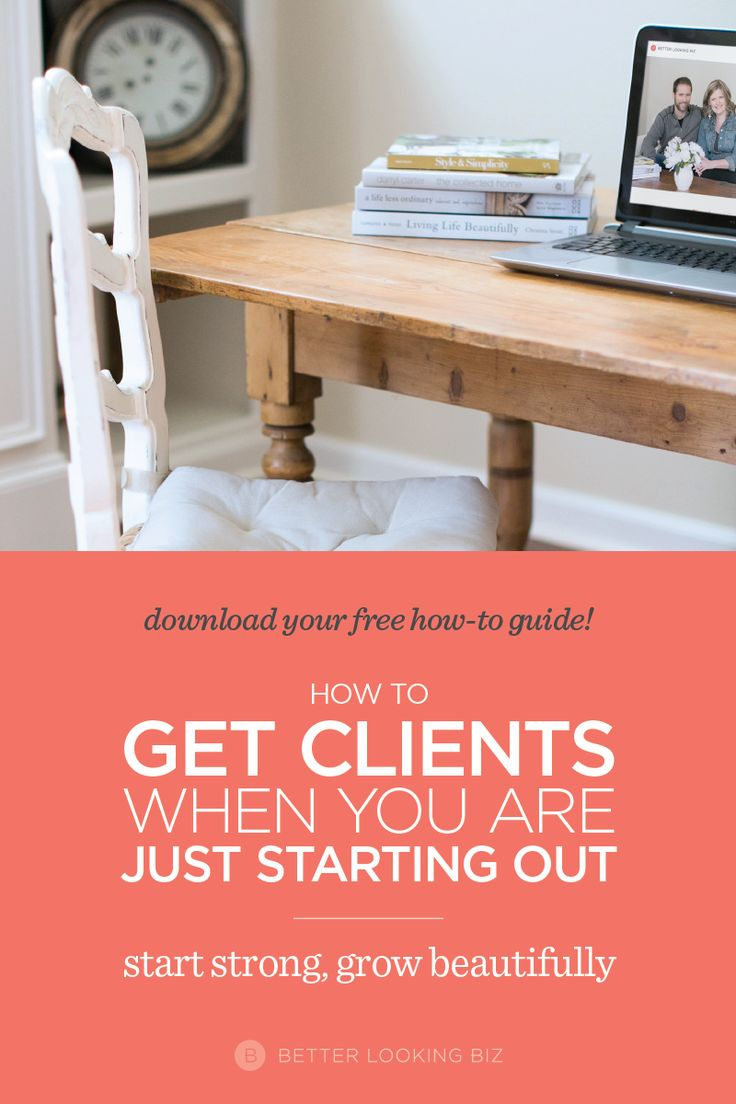 Are you a web or graphic designer struggling to get clients? Sometimes it's tough to know how to get started. I remember what it's like to start at the very beginning, and to be in a cycle of little to no clients. CLICK THRU to learn 4 very specific tactics I used for how to get clients early on in my business and I hope they help you too. Grab my guide for how to setup a free consult for prospective clients.