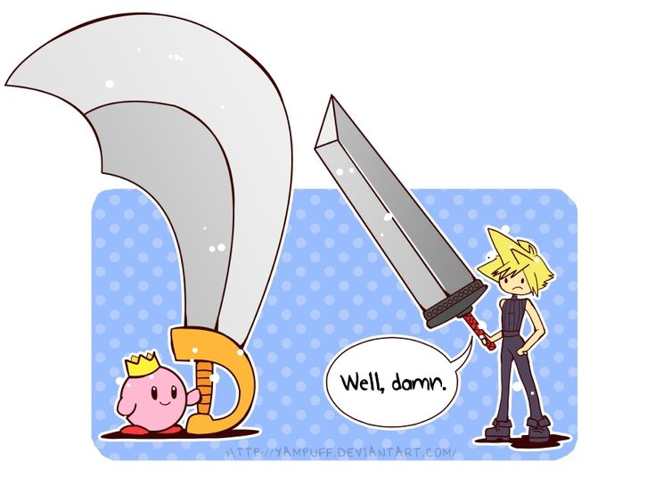 If Kirby was Cloud's sidekick, could Kirby's eternal happiness and cute rainbowness ever overcome the gloom and emo-ness of Cloud's soul?