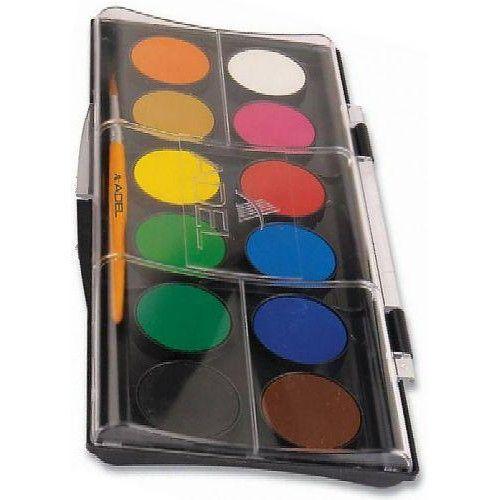 Nagygombos vízfesték készlet 12 darabos, ecsettel - Adel 932 - Akvarell festék - 739Ft - Vízfesték - Vízfesték készlet - Akvarell festék