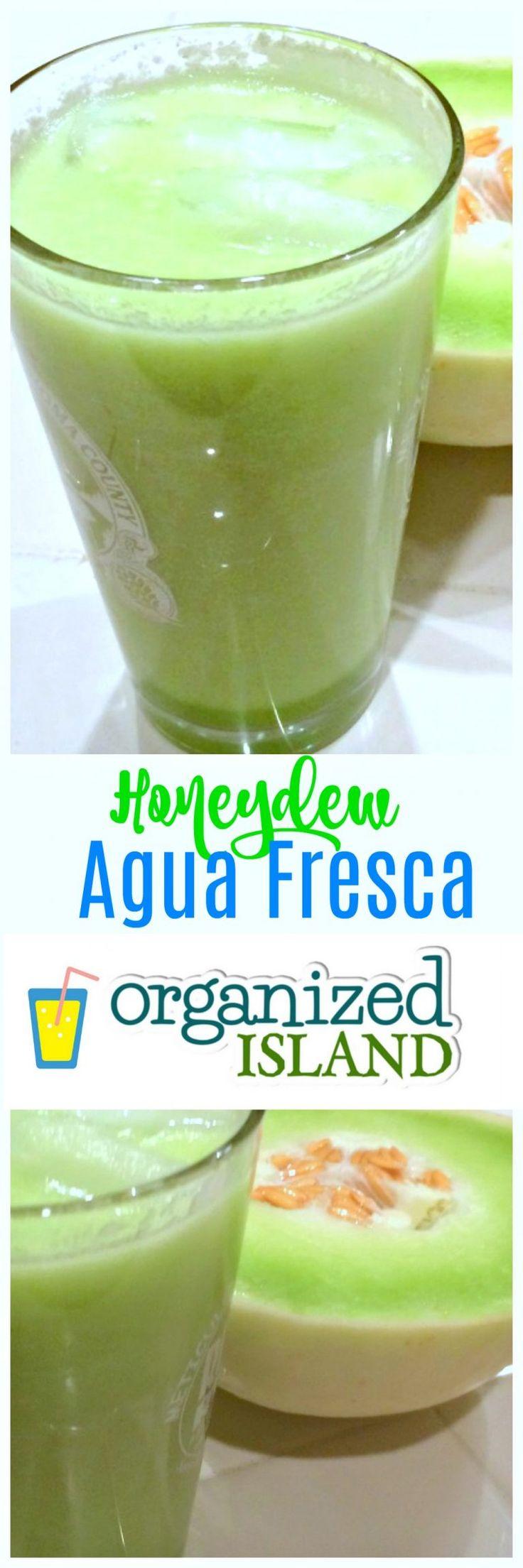 Easy Honeydew Agua Fresca Recipe - a refreshing non-alcoholic drink for summer! #agua #fresca #honeydew #melon #beverage #aguafresca #drinkrecipe