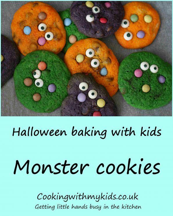 Halloween Monster Cookies Recipe Holidays Halloween Biscuits