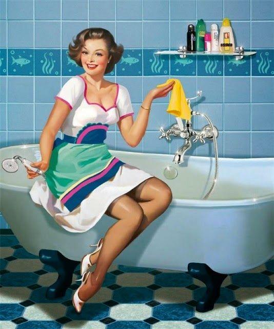 Весенняя генеральная уборка. Этап 7.  Ванна и туалет.