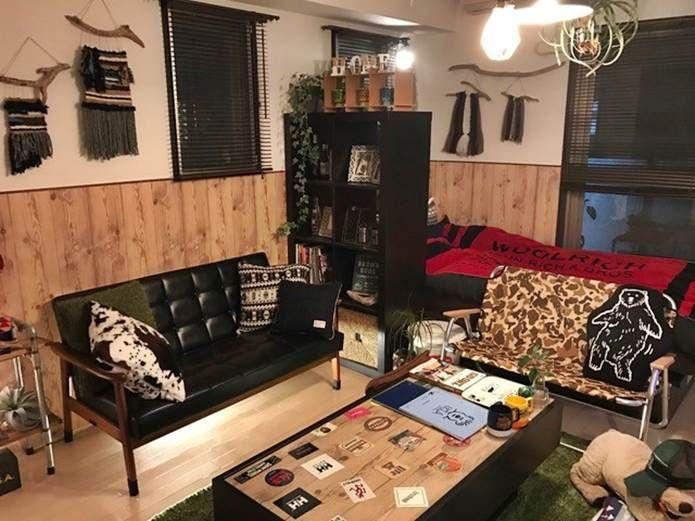 家でもアウトドア気分 キャンプ道具を使ったインテリア特集 2 Kazu Taka23さん Camp Hack キャンプハック クールな部屋 家 インテリア