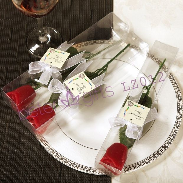 LZ012 Red Long Stem Rose Candles, Shanghai Party Supplies       http://shop116588492.taobao.com  #小蜡烛 #烛台 #candle #candleholder #betergifts