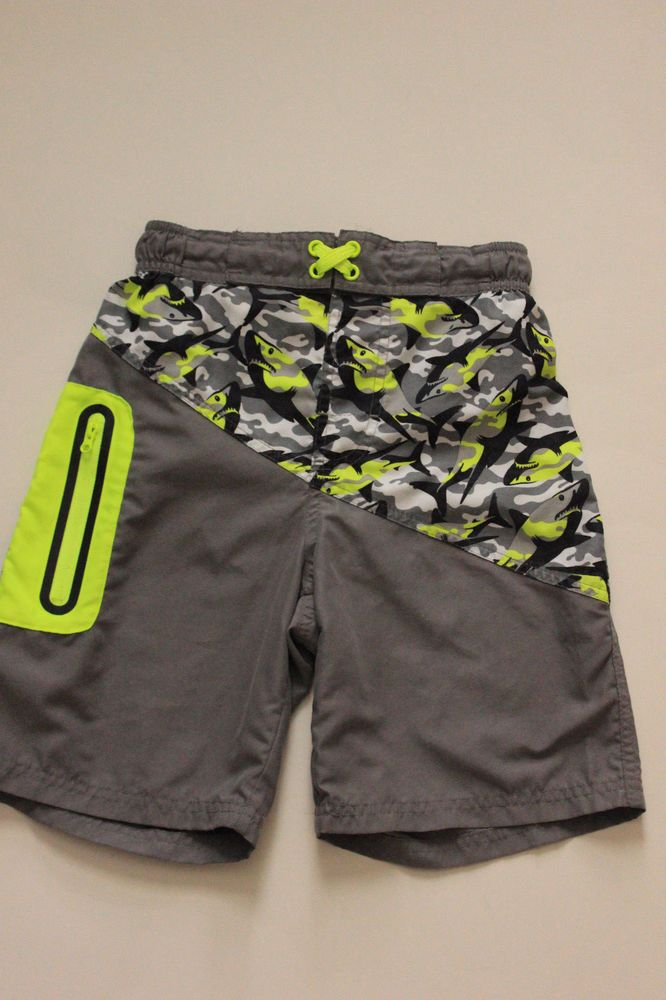 f5e1e31ab6025 Boys Wonder Nation Swim Shorts Trunks Bathing Suit Size M (8) Sharks  Swimsuit #fashion #clothing #shoes #accessories #kidsclothingshoesaccs ...