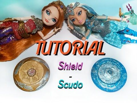 TUTORIAL: Scudo per bambole Ever After High - Dragon Games - YouTube