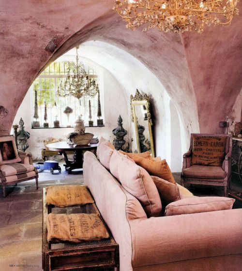 soft and pretty: Wall Colors, Living Rooms, Dreams, Mondays Mornings, Caves, Interiors Design, Home Decor, Pink, Vintage Rose