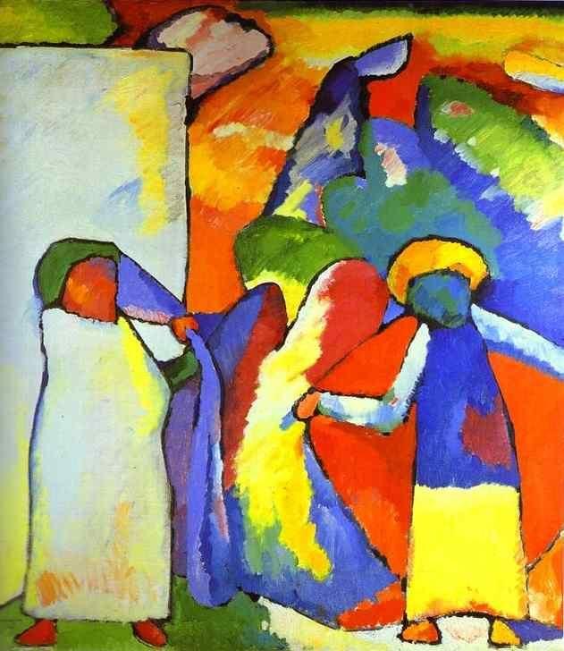 Wassily Kandinsky, Improvisation 6 (African), 1909, > formes de couleurs + CLOISONNEMENT + TAHCES
