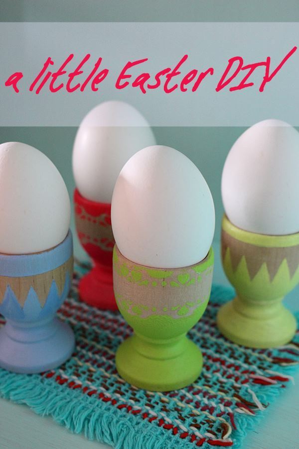 the creative night shift: Last minute DIY for Easter: Eggcups.