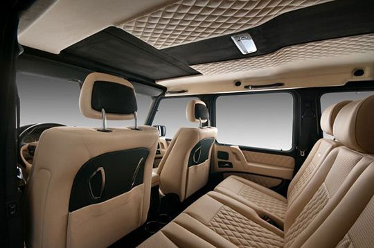 limited edition interior of a Mercedes Benz G Wagon AMG