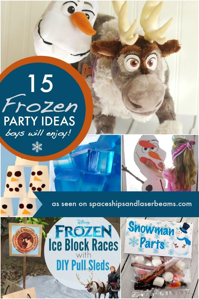 15 Frozen Party Ideas Boys Will Enjoy - Spaceships and Laser Beams