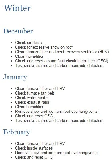 Winter Home Maintenance List ! #newhome #construction #warranty #homemaintenance #Tarion #winter