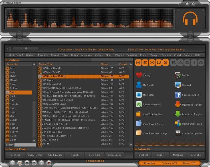 Nexus Radio es un software gratuito, compatible con Windows, con el que podemos escuchar más de 30000 emisoras de radio en el PC y grabar las emisiones.