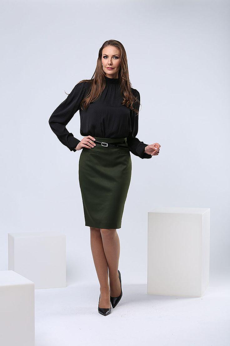 Женская одежда г.Пенза. Юбка, цвет зеленый.