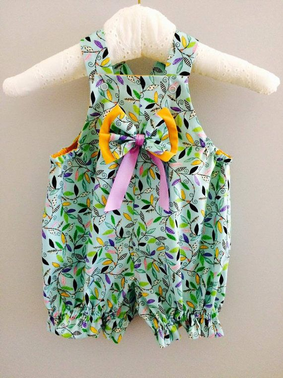 Romper baby girl cute leafs