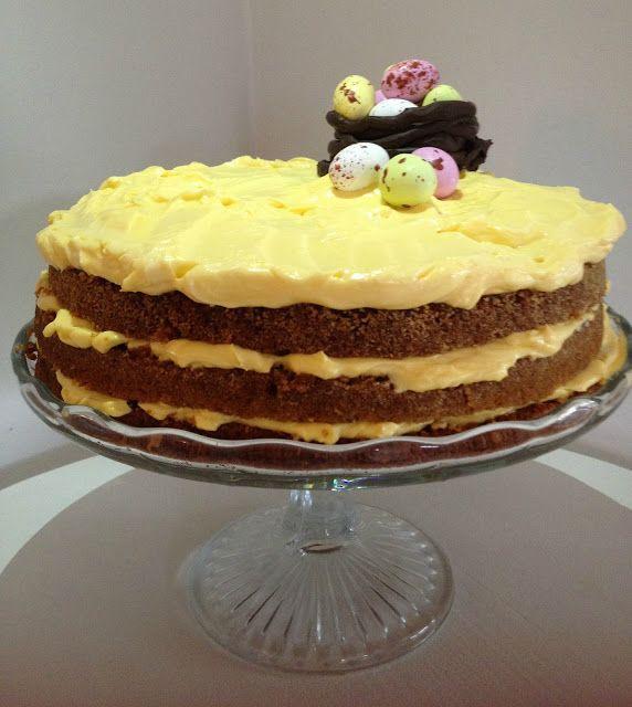 Gyllengul påsktårta med choklad – Linda´s Goda