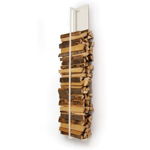 Tape Wall Mounted Log Holder White Firewood Rack Pinterest Wood Storage And