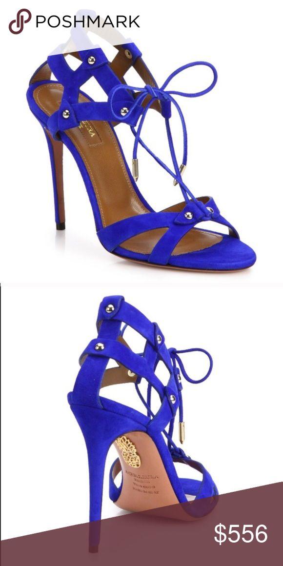 NIB Aquazzura Bel Air Sandal Royal Blue Sz 37.5 Brand new in box. Flawless. Aquazzura Shoes Heels