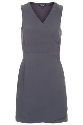 Sleeveless Wrap Shift Dress Topshop