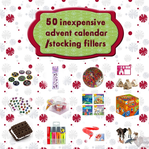 "50 inexpensive advent calendar / stocking fillers - nice ideas, even though I disagree with ""inexpensive"" :-D"