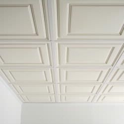 Better looking dropped ceiling for the basement. Hmm. Just found these on the Internet today I am thrilled! Great way to get a custom/drywall look with the access of tiles