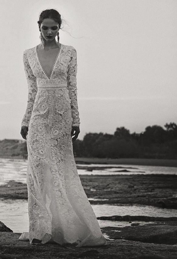 BR 1725 Floral Lace High Low Dress #weddingdress #bridal2017 #costarellos #bridetobe #brides #lace #novia #abitodasposa #wedding