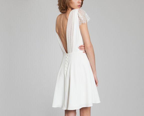 La Petite Robe Blanc Harpe en vente chez L'Exception