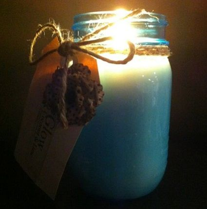 Luxury handcrafted soy candles made in new Ball© Mason jars by Glow Candles Available from www.glowcandles.net  Find us on facebook www.facebook.com/GlowSoy