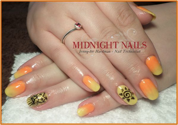 Lion King Nails using CND Shellac & Magpie Pigments - By Jenny-lee Hardman