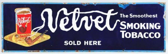 Velvet Tobacco Porcelain Sign