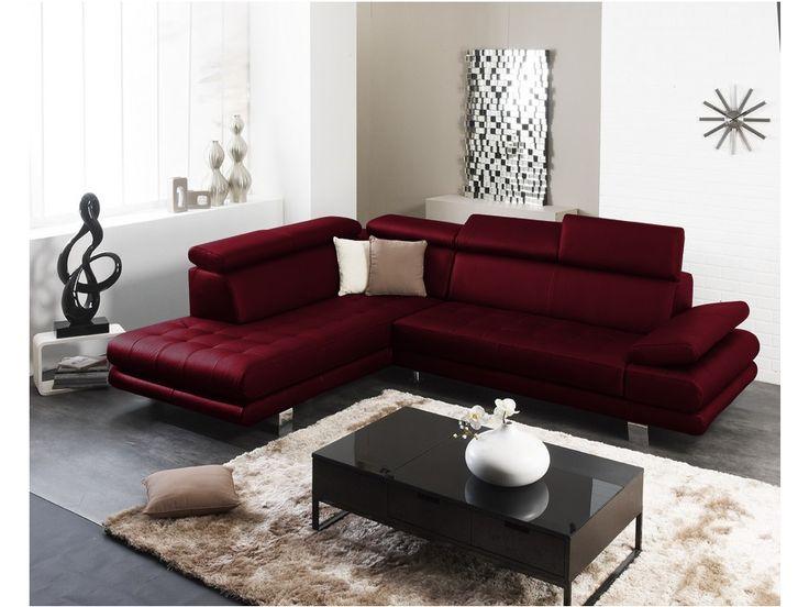 canap dangle cuir luxe italien effleurement rouge angle gauche plus - Les Plus Design Des Salons Dangle Italienne