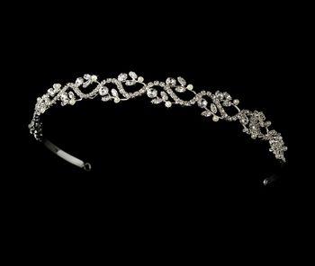 Crystal and Pearl Wedding Vine Headband
