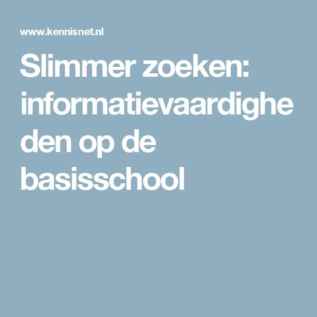 Slimmer zoeken: informatievaardigheden op de basisschool