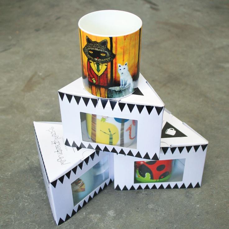 Monsterthreads bone china mugs